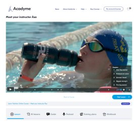 All 13 video lessons in Learn Triathlon comes with chapters in video player